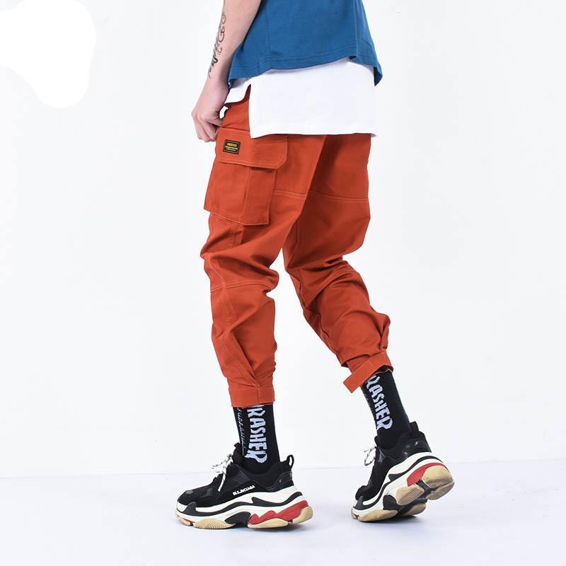 Acquista Pantaloni Cargo Da Uomo Pantaloni Da Allenamento Piedi Pantaloni  Sportivi Da Uomo Pantaloni Sportivi Hip Hop Arancione Alla Caviglia A   56.81 Dal ... c3411329cef3
