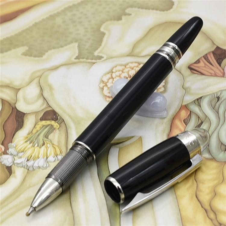 Unique design-Luxury Black check designer pens MB ballpoint Pen with crystal top Stationery office school supplies writing brand pen gift