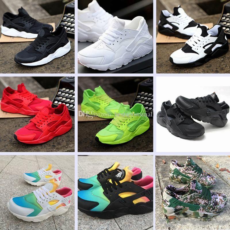 7897a48cbde909 2018 Fashion Air Huarache Ultra Running Shoes Huaraches Rainbow Ultra  Breathe Shoes Men   Women Huraches Multicolor Sneakers Size 36 45 Skechers  Running ...