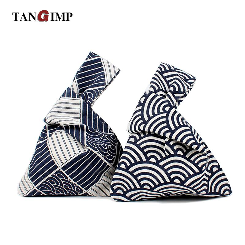 d36ba1e74a63 TANGIMP 2018 Geometric Cotton Wristlets Bags Japanese Style Handbags Simple  Coin Purse For Gift Original Big Capacity Tote Pink Handbags Red Handbags  From ...