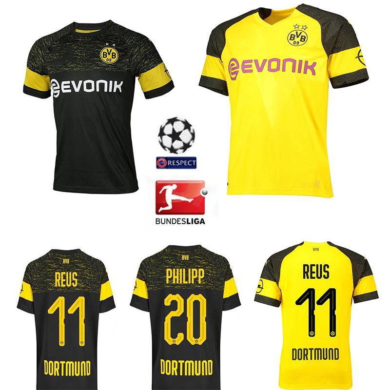 329036c7d 2019 2018 19 Bundesliga FC Borussia Dortmund Jersey Men Soccer 11 GOTZE 11  REUS 22 PULISIC 23 KAGAWA 33 WEIGL Football Shirt Big Size 3XL 4XL From ...