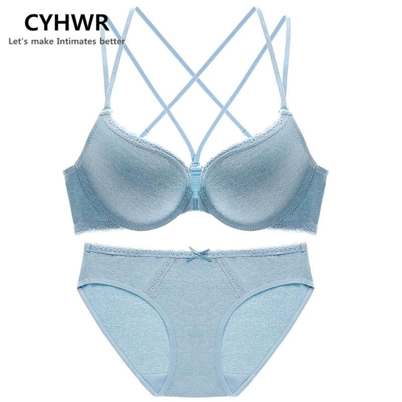 2019 Sexy Front Buckle Ultra Thin Female Lingerie Lace Deep V Bra Set  Comfortable Cross Small Chest Strap Bra For Women Underwear From  Clothesb1988 95ae6cd48