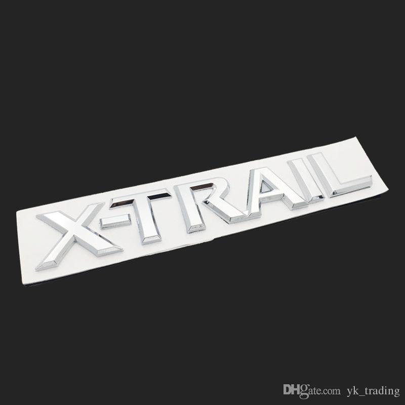 Krom Camsı ABS Rozet Amblem Sticker Nissan X Trail Xtrail Arka Kuyruk Bagaj Logo Marka Rozeti Amblem Sitker