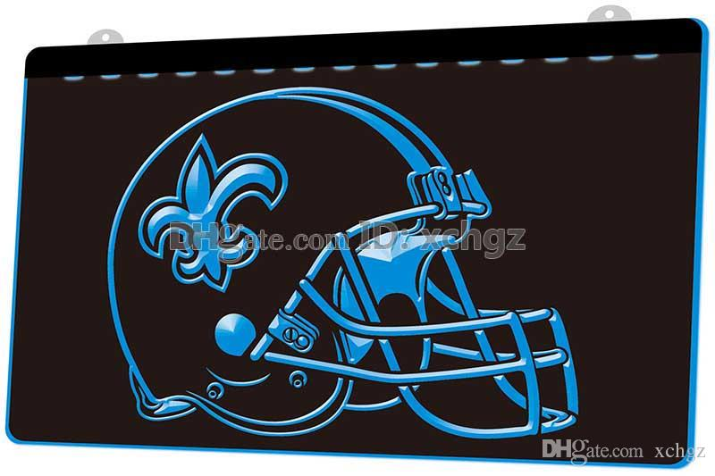 4effc7ae [F406] New Orleans Saints Helmet Beer NEW 3D Engraving LED Light Sign  Customize on Demand 8 colors