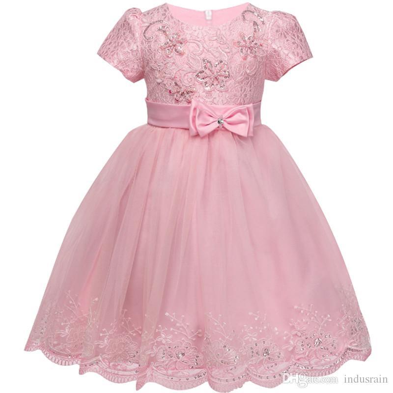 Compre Vestido De Niña De Encaje 0 3 Años Vestidos De Cumpleaños Para Niñas  Bebés Ropa Para Niños Vestidos De Fiesta Para Bebés Vestidos De Bautizo  Para ... 5615a4ae0be5