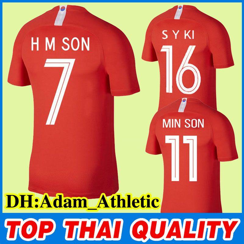 2019 2018 World Cup H M SON Soccer Jersey Son Heung Min Football Shirt S W  KIM Ki Sung Yueng Kim Shin Wook SON Red Home Football Jerseys Uniform From  ... 066d172a6