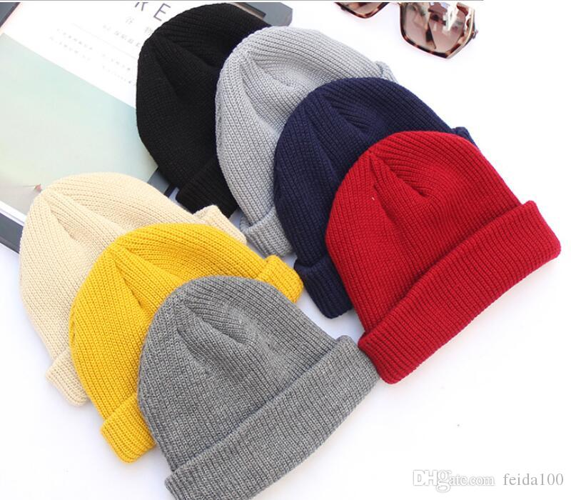 cdd441260e9 New Pure Color Knitted Hat