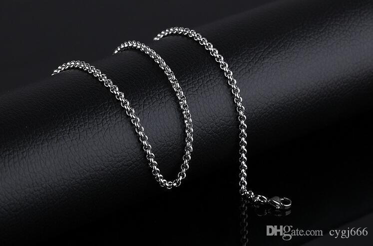 Корейский ювелирные изделия мода новые ювелирные изделия из нержавеющей стали титана цепи одной цепи ожерелье