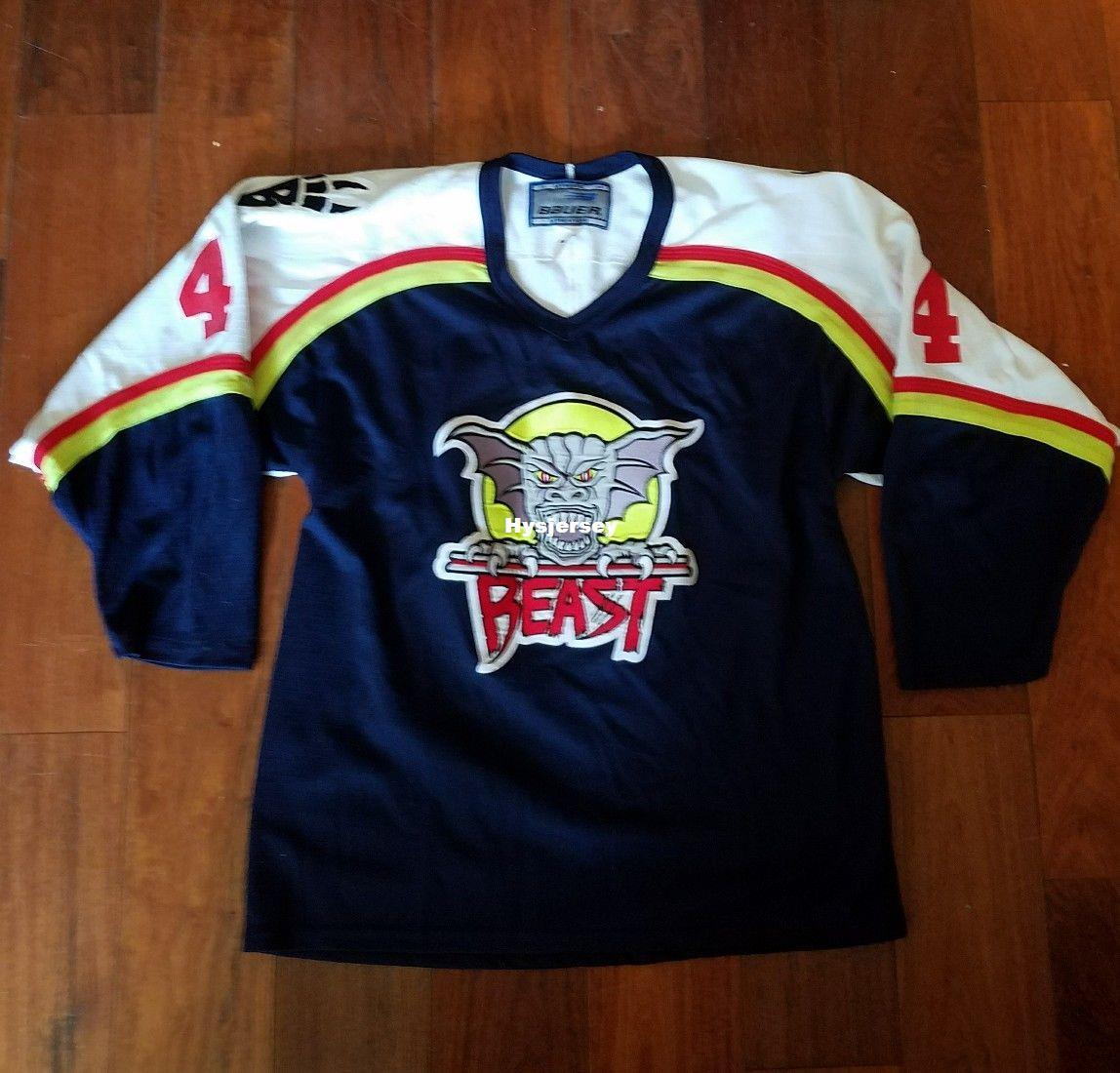 e0b01b60e 2019 New Cheap Custom Vintage 90s Beast Of New Haven Team Issued Jerseys  Sweater Stitched Men S Hockey Jersey From Hysjersey