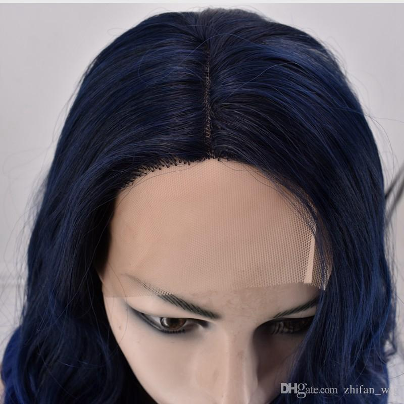 Z&F Brand New Front Lace Wig 22 Inch Long Big Body Wave Human Hair Wigs For Women