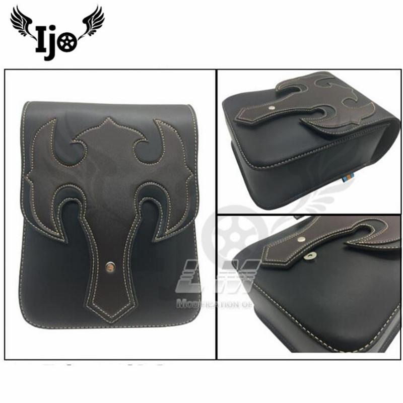 New type motorcycle saddle bag parcel Refit the side box of the side box of  car High-quality leather Motorcycle Bag