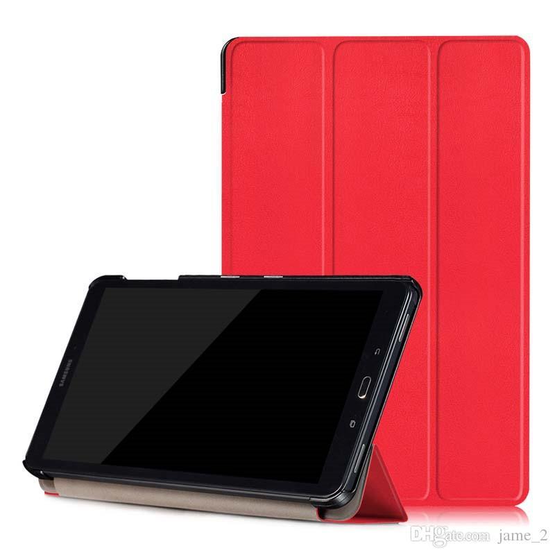 f2f94d7fec7 Compre Cubierta Para Samsung Galaxy Tab A A6 10.1 P580 P585 Estuche Ultra  Delgado Magnético Plegable Flip PU Cuero Stand Smart Shell Protector A  $5.13 Del ...