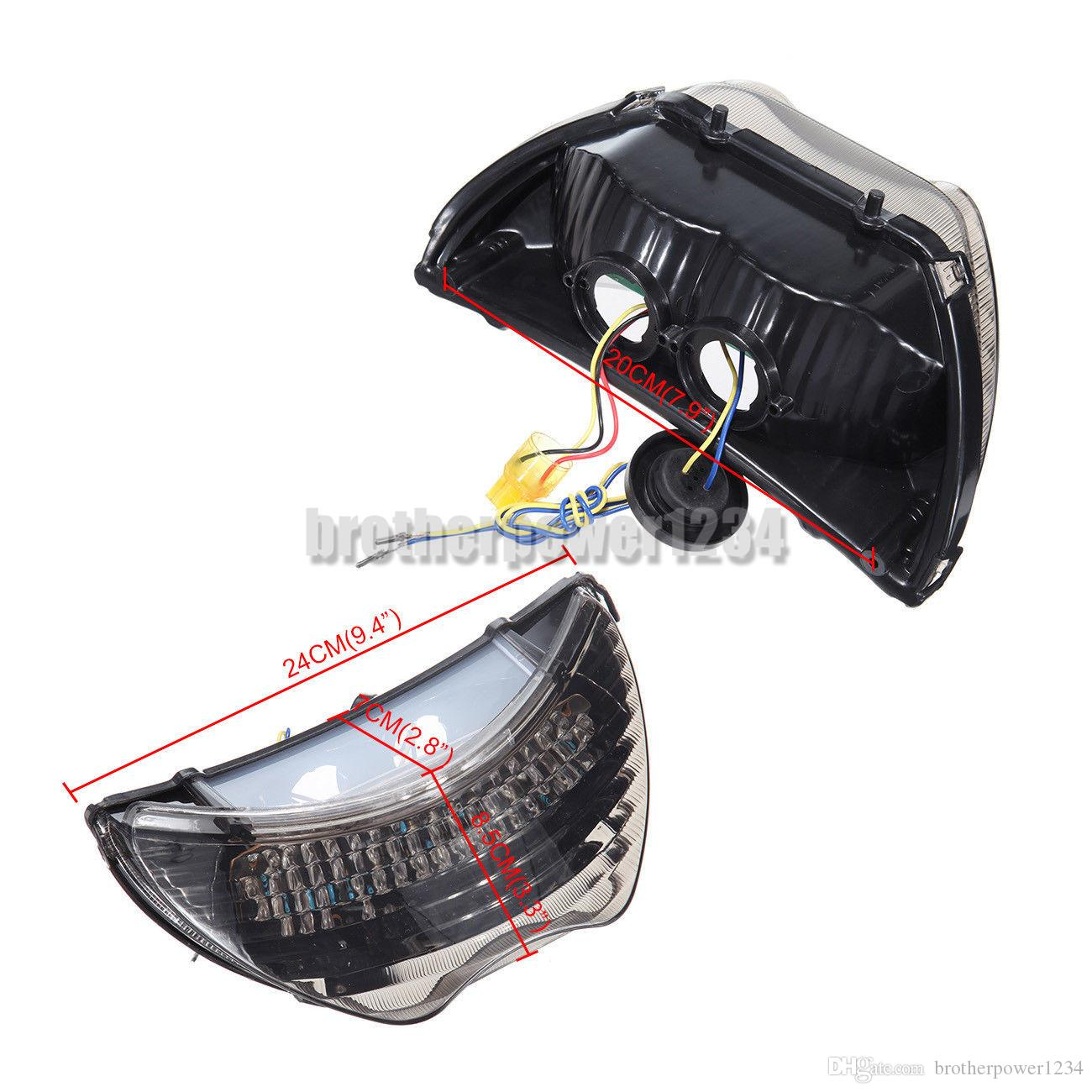 Smoke LED tail light with integrated turn signals For Honda CBR900RR CBR600 F4 F4i 2004 05 2006