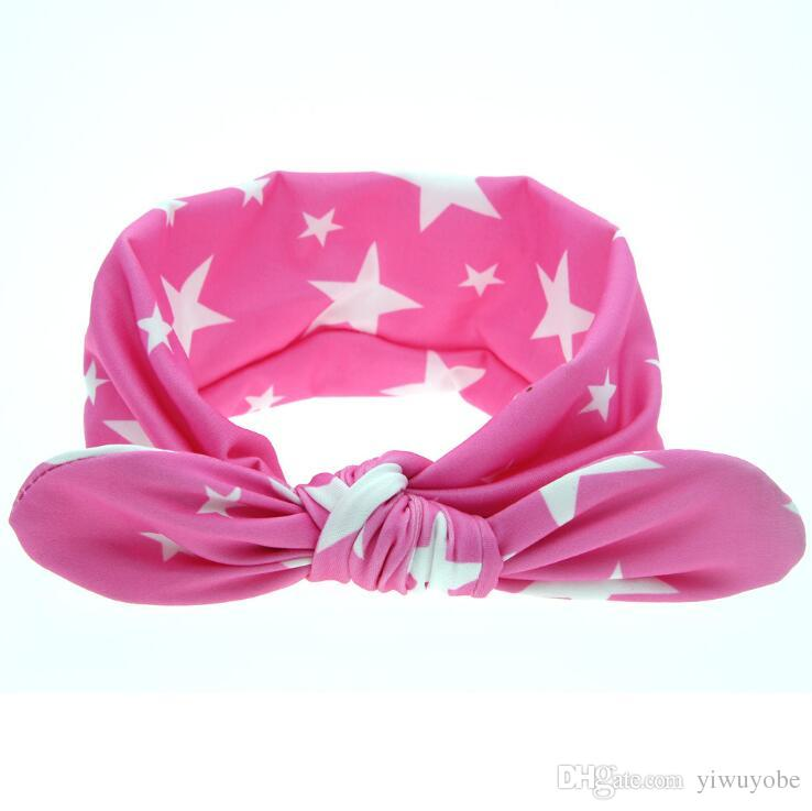 Children Hair Band Cute Polka Dot Bow Rabbit Ears Headband Girl Ring baby Kids Ponytail Holder Hair Accessories