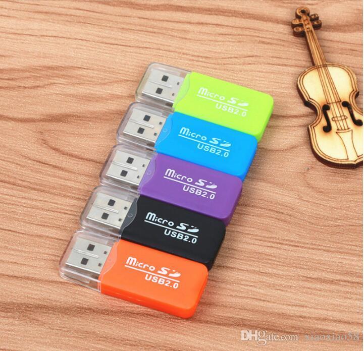 USB 2.0 어댑터 커넥터 마이크로 SD TF M2 메모리 스틱 듀오 MS-RS MMC 메모리 판독기 특가 100P 공장 가격 멀티 카드