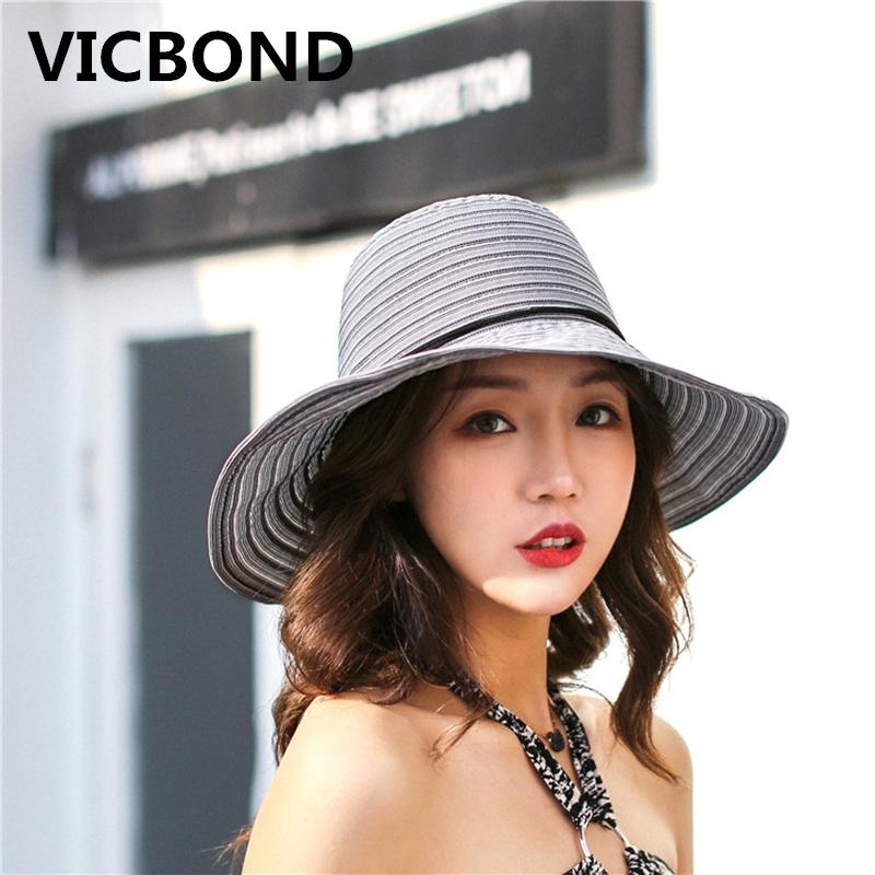 9a2fb1b0b10 New Summer Sun Hat Solid Color Beach Outdoors Travel along with a ...