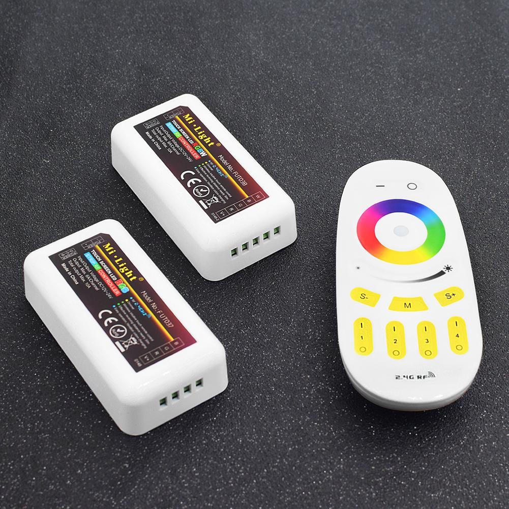 YCDC RGB Remote Control LED Strip Touch Screen Dimmer RF Wireless Remote + 3 controllers/+ 4 controllers/+ 1 RGBW Controller