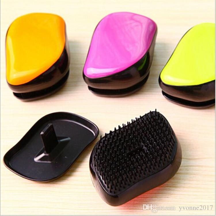 new arrival colorful ABS smart massage brush comb multifunction environmental hair comb anti-static hair care tool