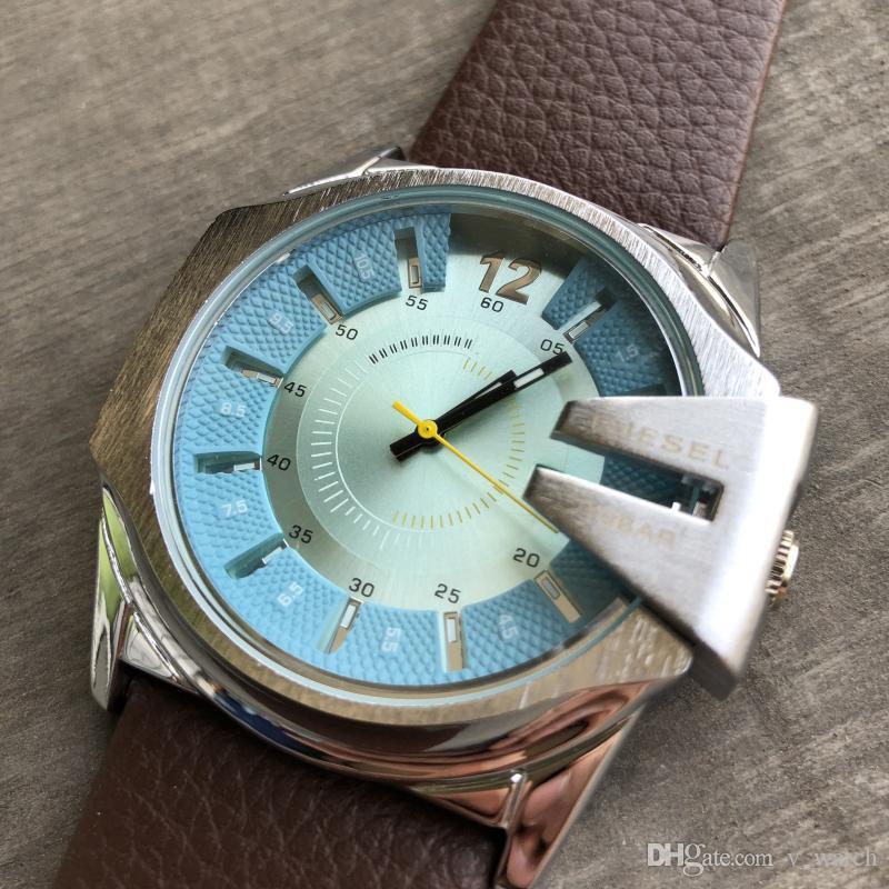 Fashion Famous Brand Men Quartz Watch Reloj Hombre Leather Business Watches Men Clock Chronograph Army Military Watch Sport for Male DZ1206
