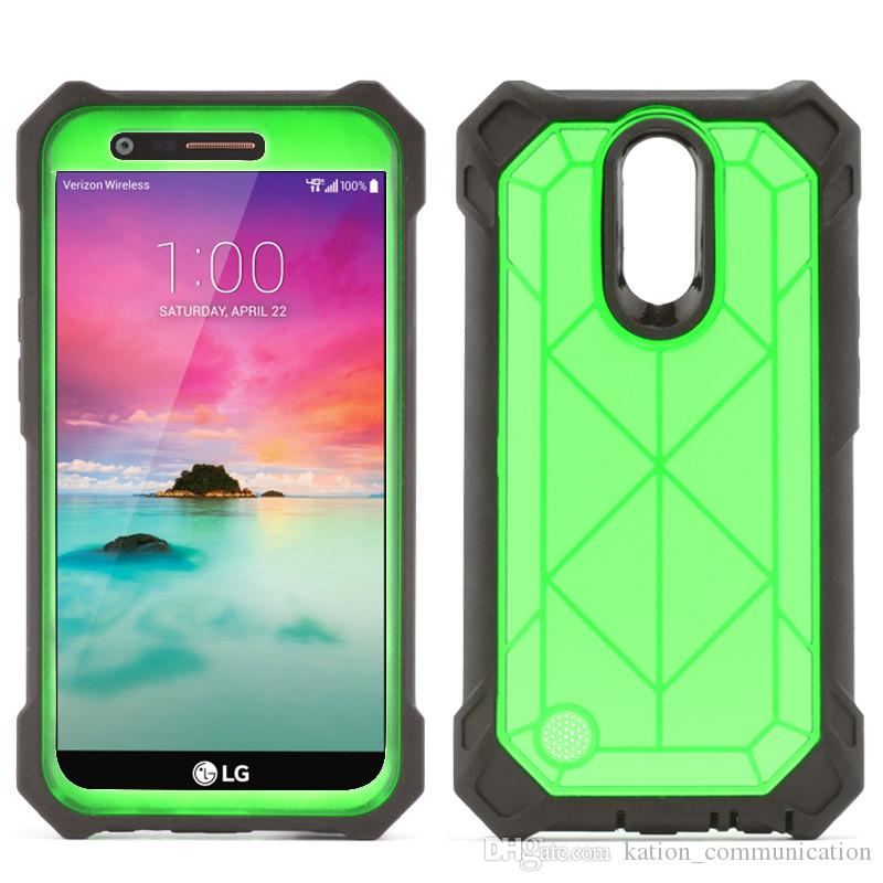 Shockproof Defender Case 3in1 Armor Soft TPU Back Cover Phone Case with Clip For LG LV5 K20plus LV3 Aristo MS210 Stylo3 Plus LS777