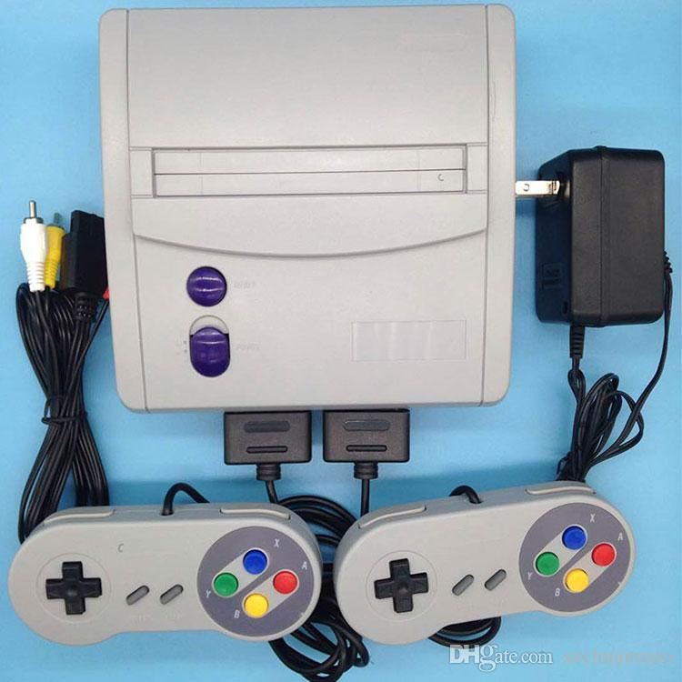 Super Mini SFC Game Console 16-Bit SFC MODEL FOR SFC 64 Classic Games For  SNES with 2 Controllers
