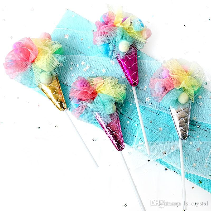 2019 Ice Cream Cup Cake Topper Pickers For Wedding Birthday Baby Shower Kids Party Summer Themed Decor DEC412 From Ls Crystal 1408