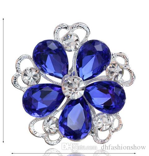 489c1b01f 2019 Hot Sale Luxury Full Of Crystal Fashion Brooch Pins For Women Silver  Plated Rhinestone Brooches Ladies Lapel Pins Collar Jewelry Christmas From  ...
