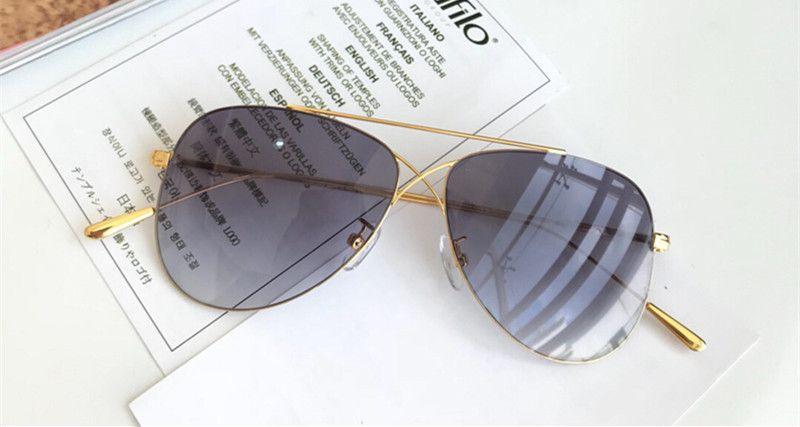 fb40a5891f8c1 Compre Luxo 0683 Óculos De Sol Para Homens Designer De Moda Sem Moldura UV  Lente De Proteção Populares Estilo Verão Óculos De Sol De Qualidade  Superior Vem ...