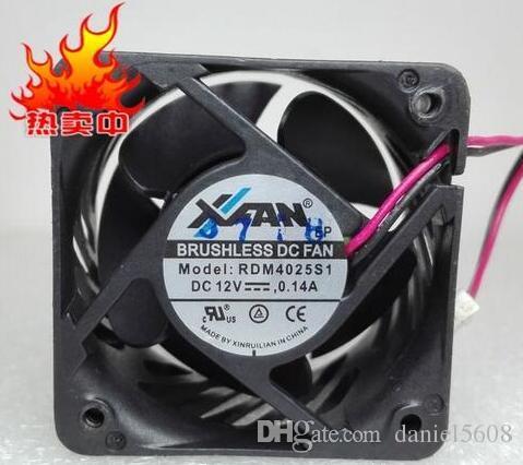 RDM4025S1 4025 12V 0.14A 40*40*25MM 2 wire fan