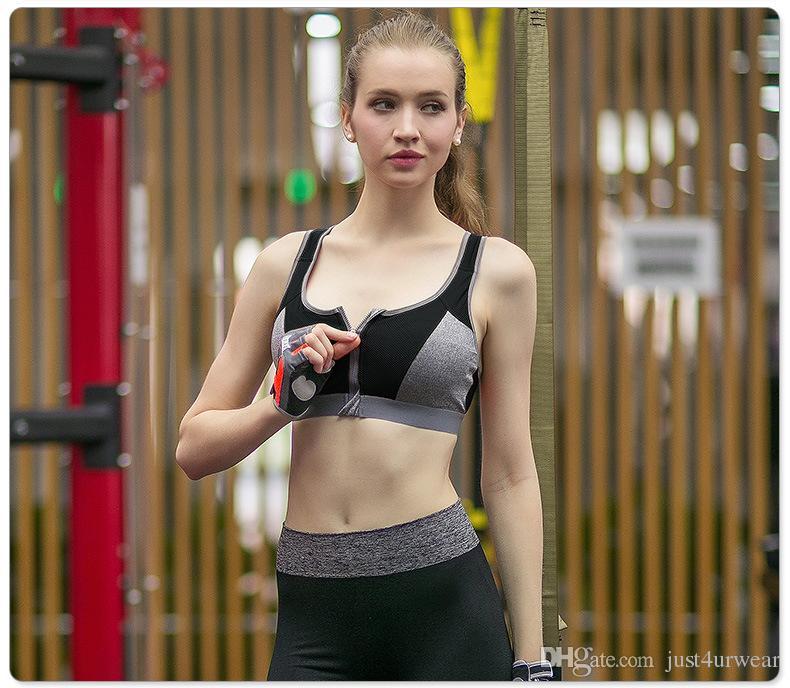 Спортивные бюстгальтеры женщины нижнее белье двойной провод бесплатно пуш-ап тренажерный зал фитнес спортивный бюстгальтер