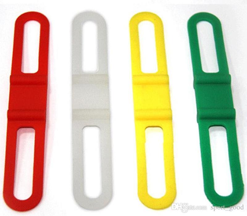 Fahrrad-Licht-Berg-Halter-Zubehör-Fahrrad-Licht-Lenker-Silikon-Bügel-Taschenlampe-Telefon-Befestigungs-Bänder-elastische Bandage