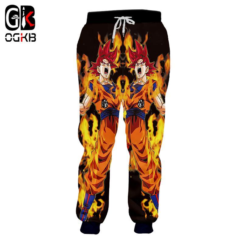 OGKB New Harajuku Men  Women Sweatpants Fashion Print Anime Dragon ... 8bdd4687fd07