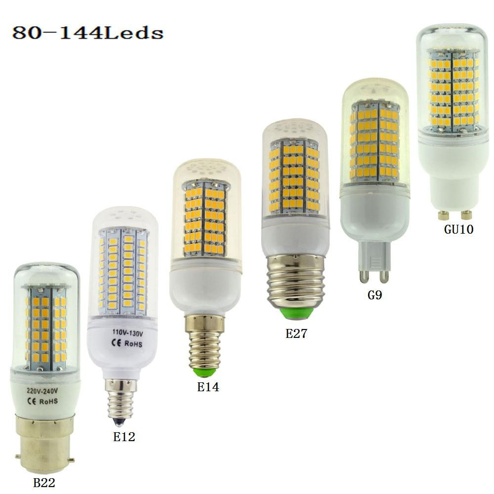 Led Lumière Gu10 30w Lampada 38w Lustre 80102120138 B22 110v 40w 144leds E14 Projecteur E12 25 E27 Ampoule Corn G9 50w 220v 35w kPXuZi