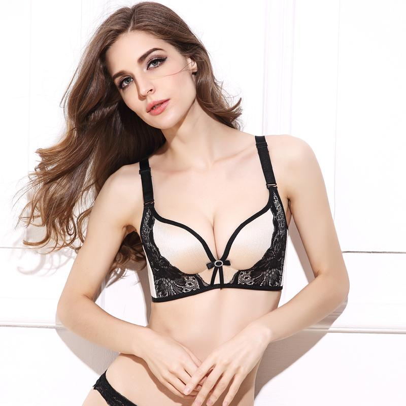 82edf91dc7b9a 2019 Deruilady Women Push Up Bra Lace Bralette Adjusted Comfortable  Wireless Bra Underwear Women Sexy Lingerie Plus Size C D Cup From Taigao