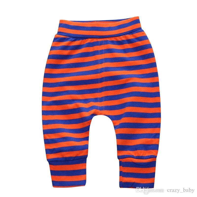 Bebé recién nacido bebé niño niña raya Pantalones Polainas Pantalones Harem PP Pantalones Niños pantalones Legging ocasional