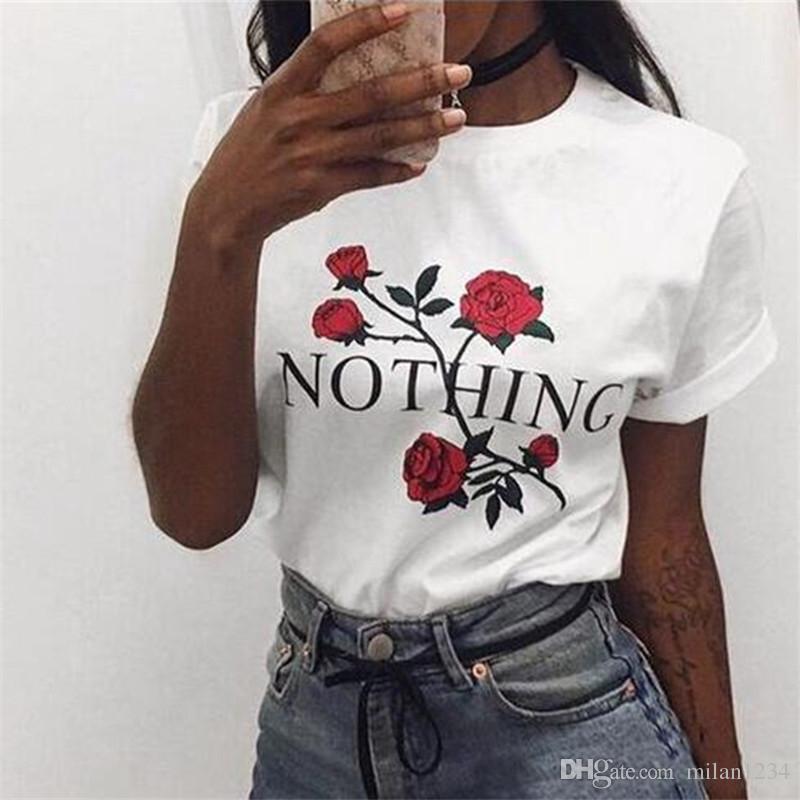 547e01c3d1ece Acheter Rien Rose Girl Power Tshir T Shirt Harajuku T Shirt À Manches  Courtes TShirt Plus Size Punk Shirts De  9.04 Du Milan1234
