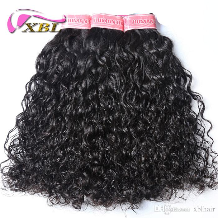 Xblhair Brazilian Hair Weave Bundles Virgin Water Wave Human Hair
