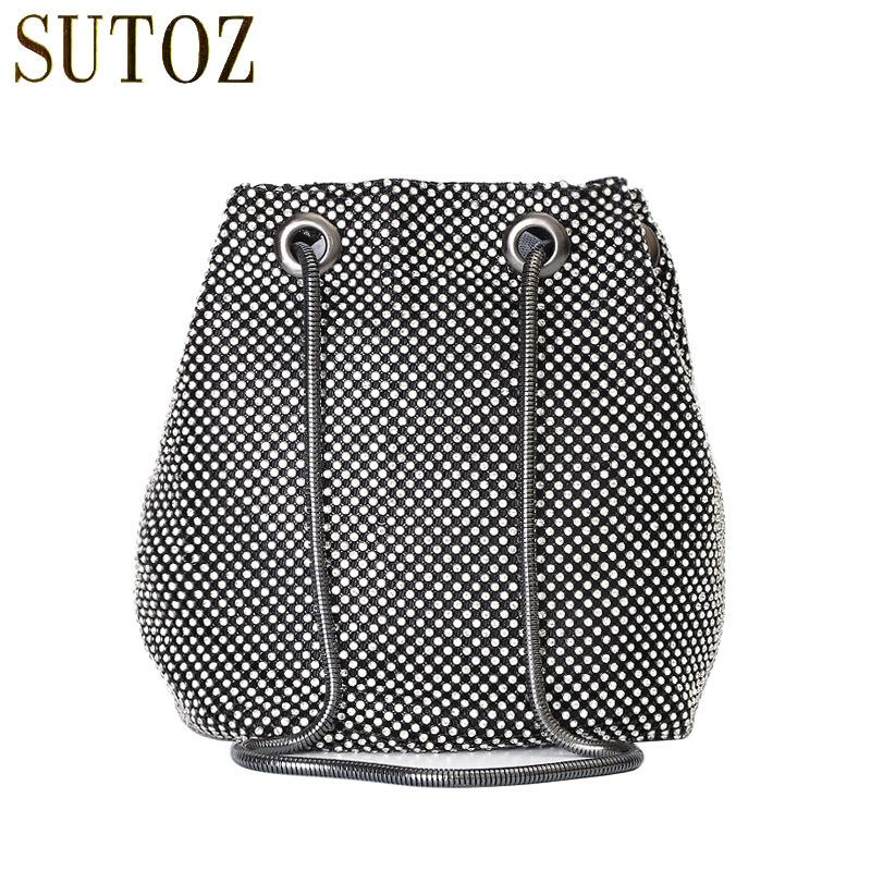 Evening Bags Diamond Studded Solid Cross Body Bags For Girls Rhinestone Small  Bucket Shoulder Bag Woman Party Purse Bags BA648 D18102407 Overnight Bags  ... 1b1c8999dbf4