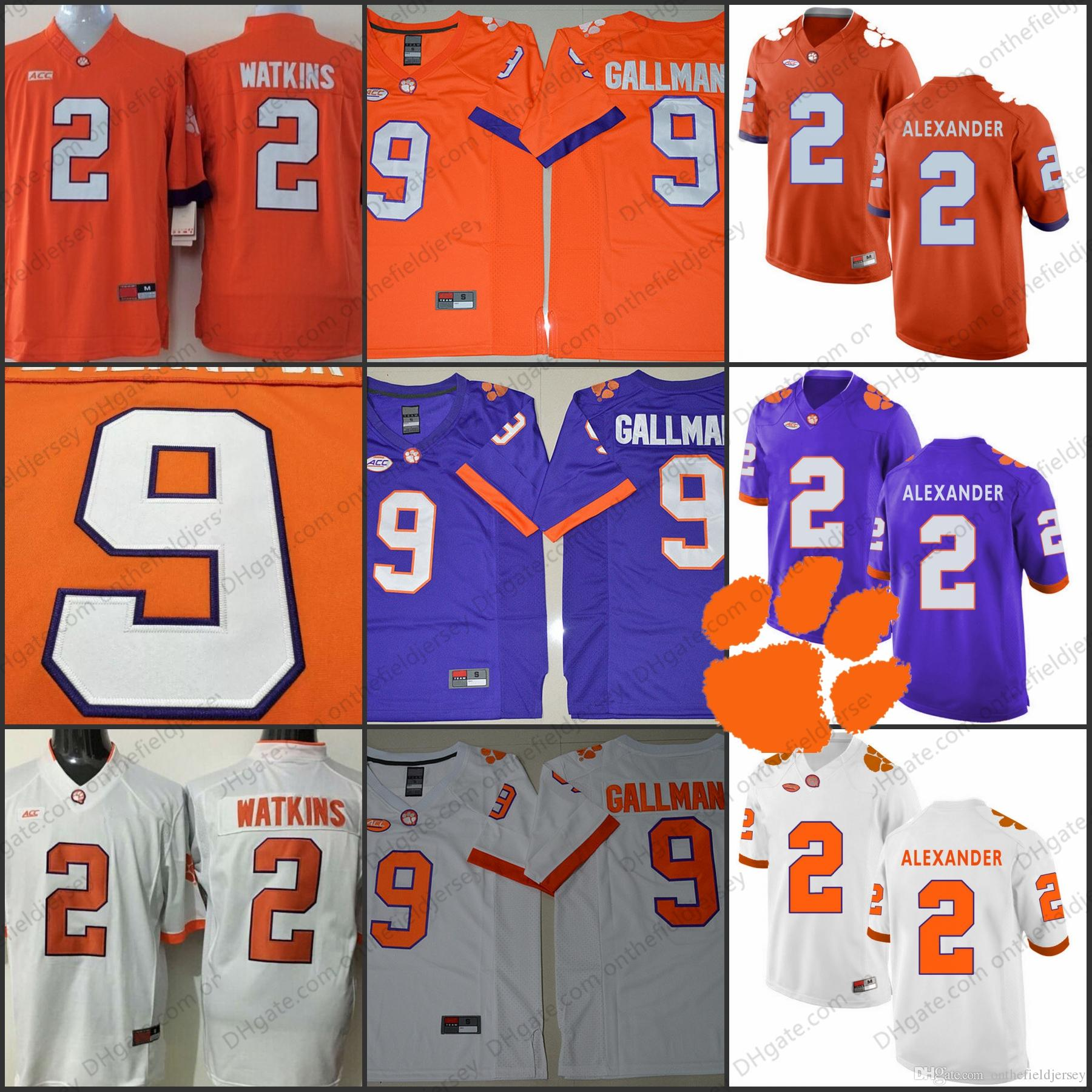 bebfe8c32a5 2019 Clemson Tigers NCAA Football  13 Adam Humphries 9 Wayne Gallman II 2  Mackensie Alexander 2 Sammy Watkins Orange Purple White Jersey S 3XL From  ...