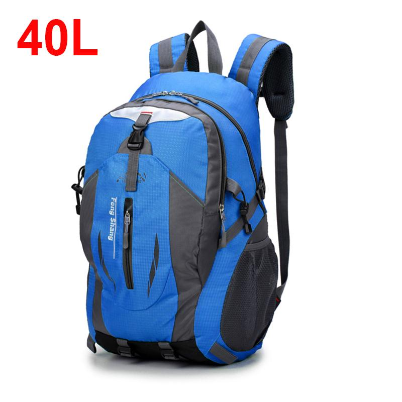 40L Waterproof Tactical Backpack Hiking Bag Cycling Climbing Backpack  Laptop Rucksack Travel Outdoor Bags Men Women Sports Bag Swiss Army Backpack  Black ... d36e356565894