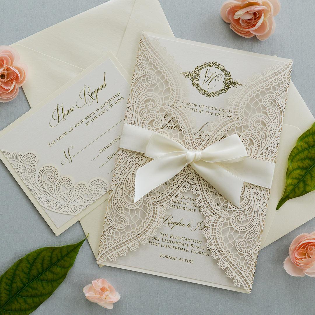 Compre 2018 invitaciones de boda con cinta invitaciones de - Disenos tarjetas de boda ...