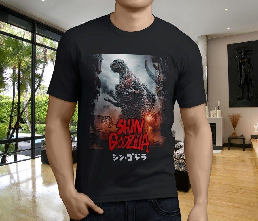 b55a1a2e New Shin Godzilla Resurgence Japan Movie Monster Men's Black T-Shirt Size  S-3XL