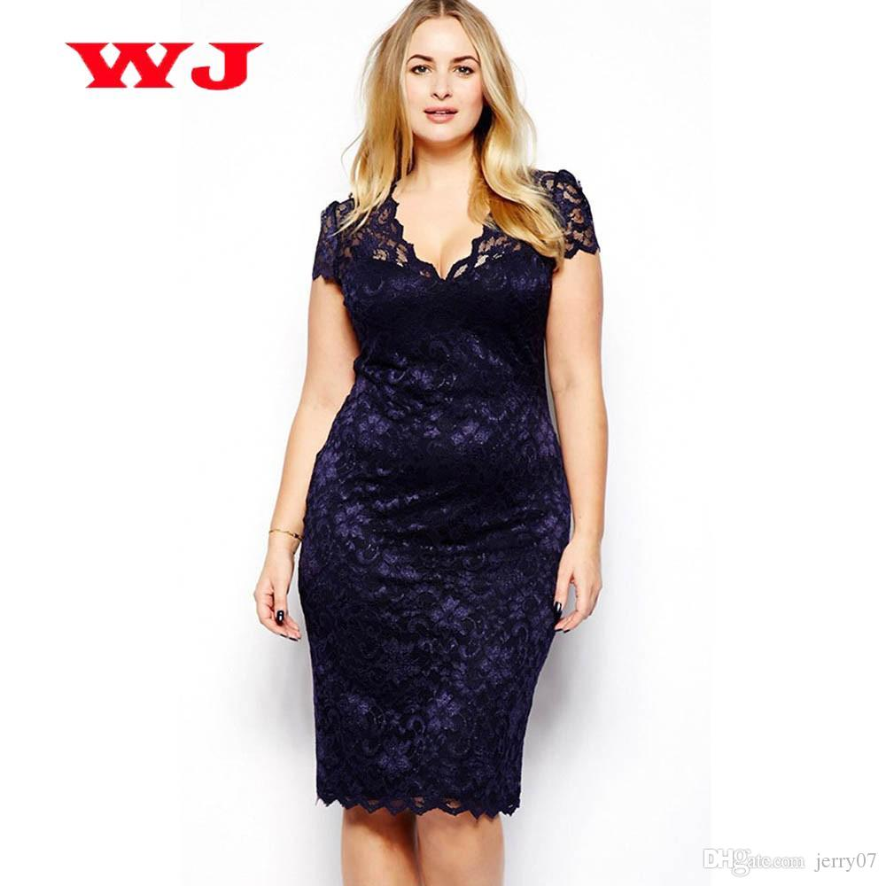 b0cc223a9 2018 Summer Style Women Sexy Pencil Bodycon Dress Feminino Vintage Slim Fit  Blue Lace Dresses Party Vestidos Plus Size M 3XL Strapless Dresses For  Teens ...
