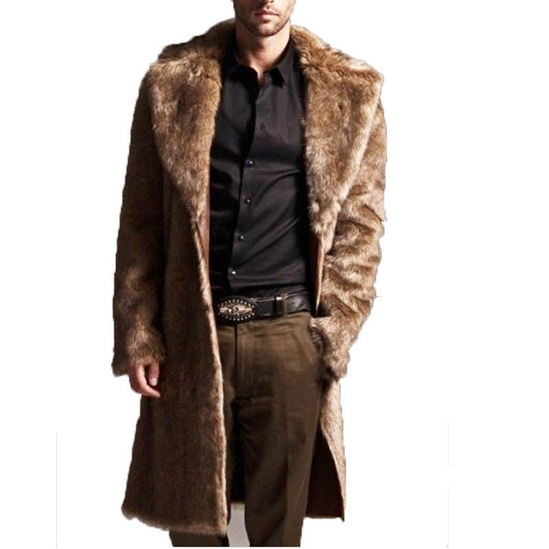 Großhandel Herren Faux Pelzmäntel Lange Trenchcoat Pelzkragen Leder  Wildleder Jacke Männer Mäntel Warme Winter Männlichen Jacken Luxus Von  Insightlook, ... acd38d21ff