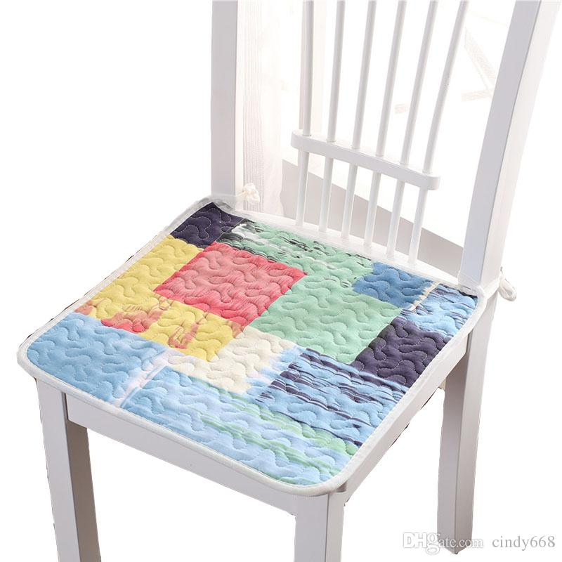 Chair Cushion Student Seat Thin Sofa Cushions Office Sitting Pad  Comfortable Dining Kitchen Table Chair Mat Cojines Decorativos 40*40CM Pads