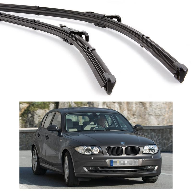 f99f184e8e2c 2018 New 20 20 Car Front Windshield Wiper Blade Bracketless Fit For BMW 1  Series 2004 2010 E87 From Icar club