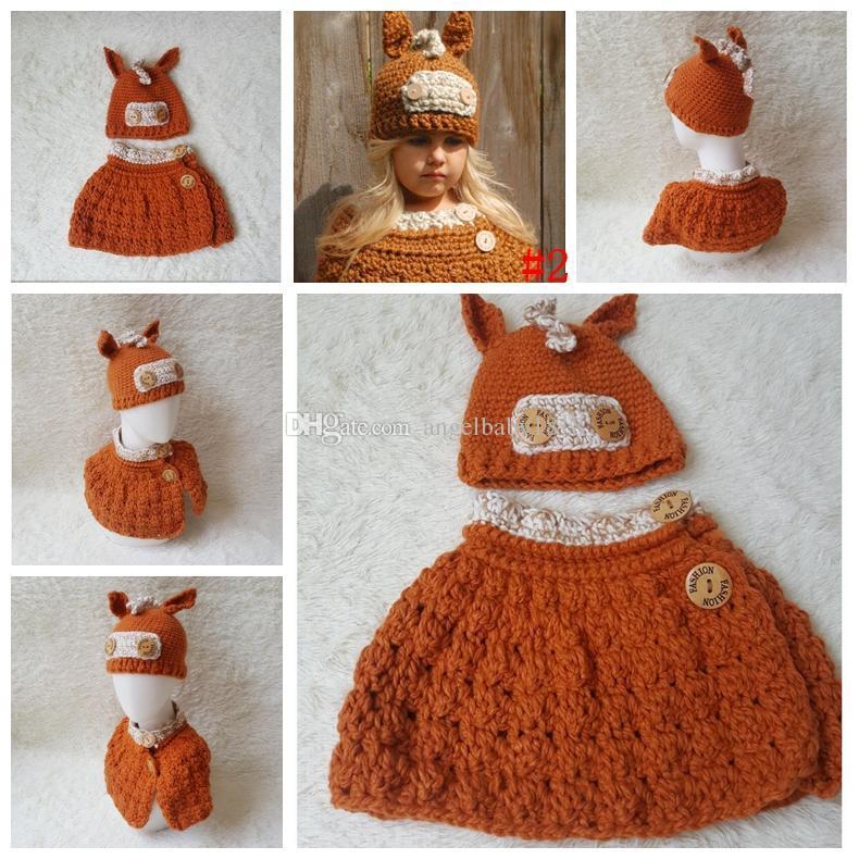 Großhandel Winter Handschuhe Kinder Häkeln Hut Schal Set Handmade