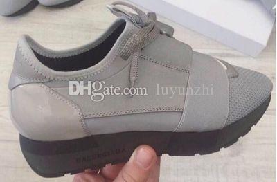 2017 balciag luxus arena sneaker schuhe läufer rot mesh balck leder kanye west rennläufer männer walking casual trainer party dress