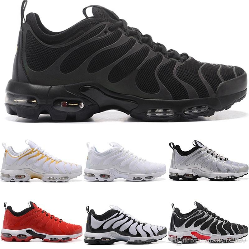 98b393423b03f Designer TN Plus Ultra Running Shoes Men Women Triple White Black ...