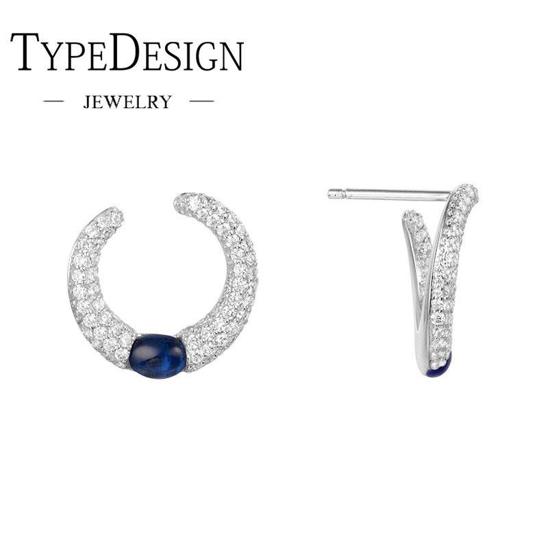 e75d20ff8018 Compre TIPO JOYERÍA Pendiente De Plata Para Mujer Con Diamantes Y Caramelo  Azul. A  30.61 Del Cupwater